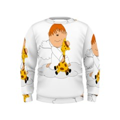 Pet Giraffe Angel Cute Boy Kids  Sweatshirt