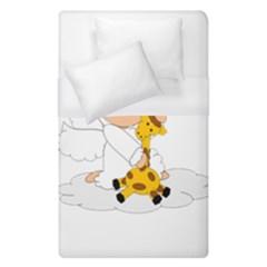 Pet Giraffe Angel Cute Boy Duvet Cover (single Size) by Nexatart