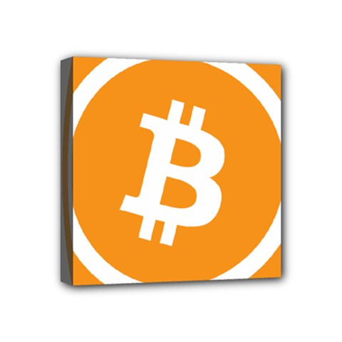 Bitcoin Cryptocurrency Currency Mini Canvas 4  X 4  by Nexatart