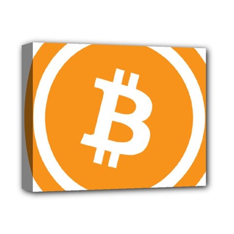 Bitcoin Cryptocurrency Currency Deluxe Canvas 14  X 11  by Nexatart