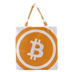 Bitcoin Cryptocurrency Currency Grocery Tote Bag by Nexatart