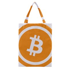 Bitcoin Cryptocurrency Currency Classic Tote Bag