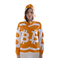 Bitcoin Cryptocurrency Currency Hooded Wind Breaker (women)
