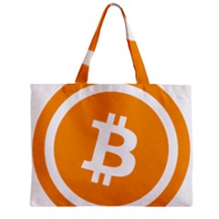 Bitcoin Cryptocurrency Currency Zipper Mini Tote Bag by Nexatart
