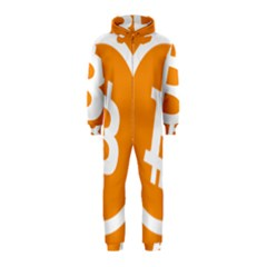 Bitcoin Cryptocurrency Currency Hooded Jumpsuit (kids)