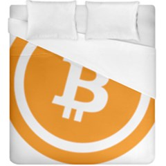 Bitcoin Cryptocurrency Currency Duvet Cover (king Size)