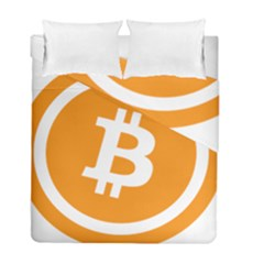 Bitcoin Cryptocurrency Currency Duvet Cover Double Side (full/ Double Size)