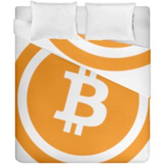 Bitcoin Cryptocurrency Currency Duvet Cover Double Side (california King Size)