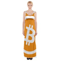 Bitcoin Cryptocurrency Currency Maxi Thigh Split Dress
