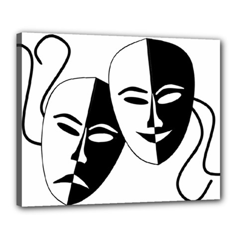 Theatermasken Masks Theater Happy Canvas 20  X 16