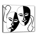 Theatermasken Masks Theater Happy Canvas 20  x 16  View1