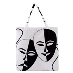 Theatermasken Masks Theater Happy Grocery Tote Bag by Nexatart