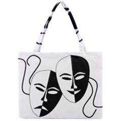 Theatermasken Masks Theater Happy Mini Tote Bag