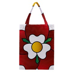 Flower Rose Glass Church Window Classic Tote Bag