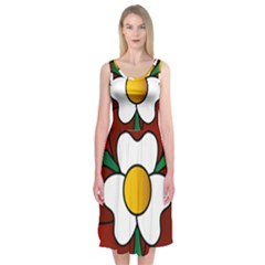 Flower Rose Glass Church Window Midi Sleeveless Dress