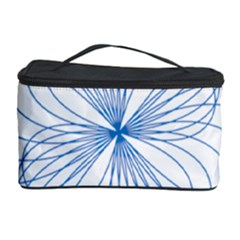 Blue Spirograph Pattern Drawing Design Cosmetic Storage Case by Nexatart