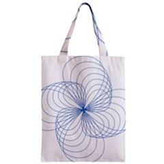 Blue Spirograph Pattern Drawing Design Zipper Classic Tote Bag by Nexatart