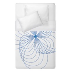 Blue Spirograph Pattern Drawing Design Duvet Cover (single Size)