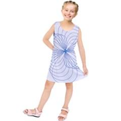 Blue Spirograph Pattern Drawing Design Kids  Tunic Dress