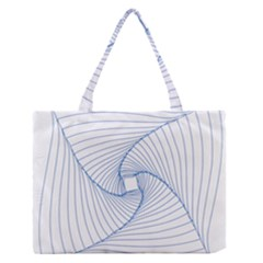 Spirograph Pattern Drawing Design Medium Zipper Tote Bag