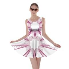 Spirograph Pattern Circle Design Skater Dress