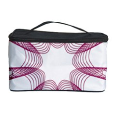 Spirograph Pattern Circle Design Cosmetic Storage Case by Nexatart