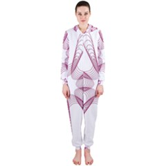Spirograph Pattern Circle Design Hooded Jumpsuit (ladies)