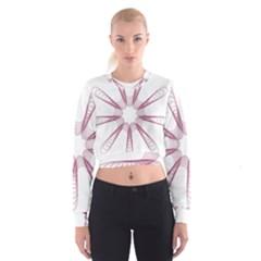 Spirograph Pattern Circle Design Cropped Sweatshirt