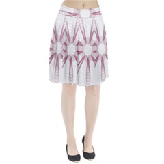 Spirograph Pattern Circle Design Pleated Skirt by Nexatart