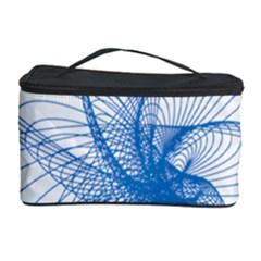 Spirograph Pattern Drawing Design Blue Cosmetic Storage Case