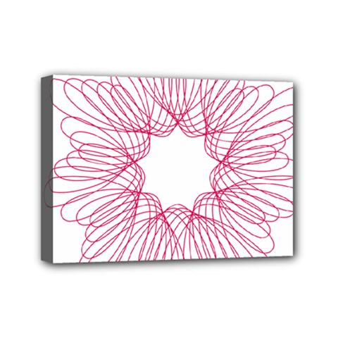 Spirograph Pattern Drawing Design Mini Canvas 7  X 5