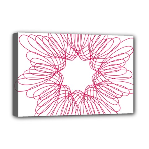 Spirograph Pattern Drawing Design Deluxe Canvas 18  X 12   by Nexatart