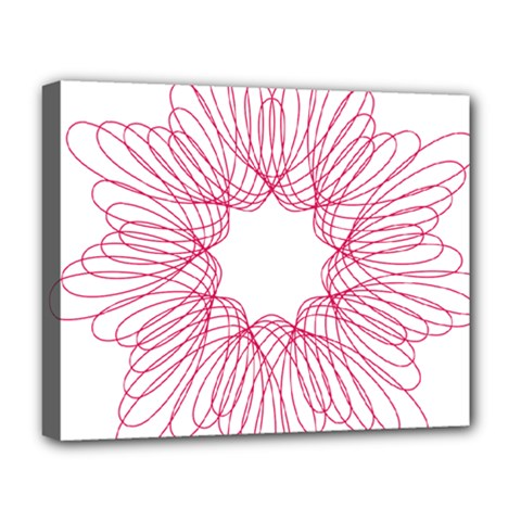 Spirograph Pattern Drawing Design Deluxe Canvas 20  X 16
