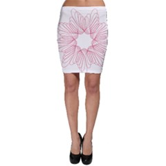 Spirograph Pattern Drawing Design Bodycon Skirt
