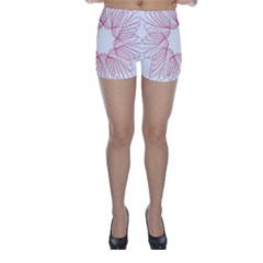 Spirograph Pattern Drawing Design Skinny Shorts