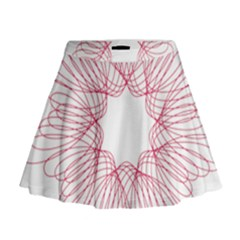 Spirograph Pattern Drawing Design Mini Flare Skirt