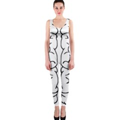 Brain Mind Gray Matter Thought Onepiece Catsuit