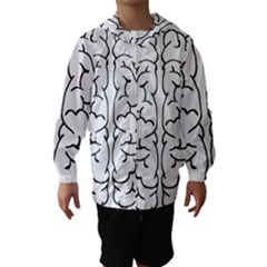 Brain Mind Gray Matter Thought Hooded Wind Breaker (kids)