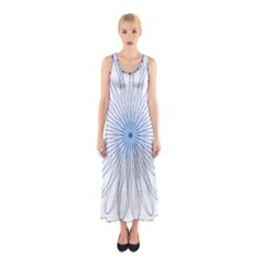 Spirograph Pattern Circle Design Sleeveless Maxi Dress