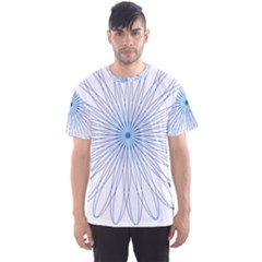 Spirograph Pattern Circle Design Men s Sport Mesh Tee