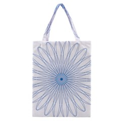 Spirograph Pattern Circle Design Classic Tote Bag by Nexatart