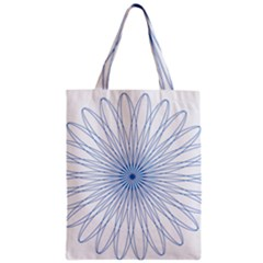 Spirograph Pattern Circle Design Zipper Classic Tote Bag by Nexatart