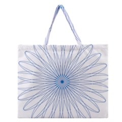 Spirograph Pattern Circle Design Zipper Large Tote Bag by Nexatart