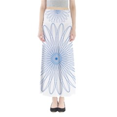 Spirograph Pattern Circle Design Maxi Skirts