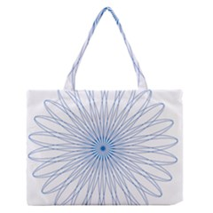 Spirograph Pattern Circle Design Medium Zipper Tote Bag by Nexatart