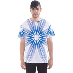Blue Spirograph Pattern Circle Geometric Men s Sport Mesh Tee