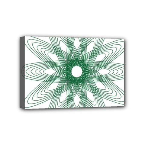 Spirograph Pattern Circle Design Mini Canvas 6  X 4  by Nexatart