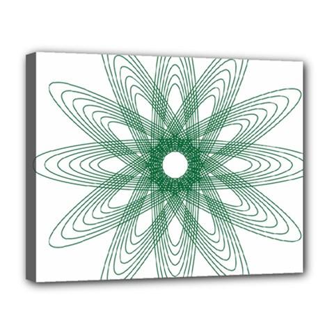 Spirograph Pattern Circle Design Canvas 14  X 11  by Nexatart