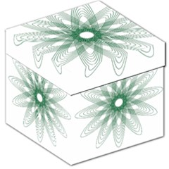 Spirograph Pattern Circle Design Storage Stool 12   by Nexatart