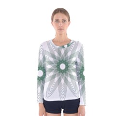 Spirograph Pattern Circle Design Women s Long Sleeve Tee